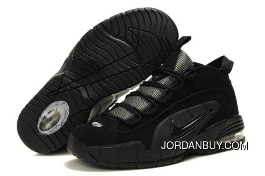 info for 967bc 79236 Buy Air Penny 1 All Black Basketball Shoes .