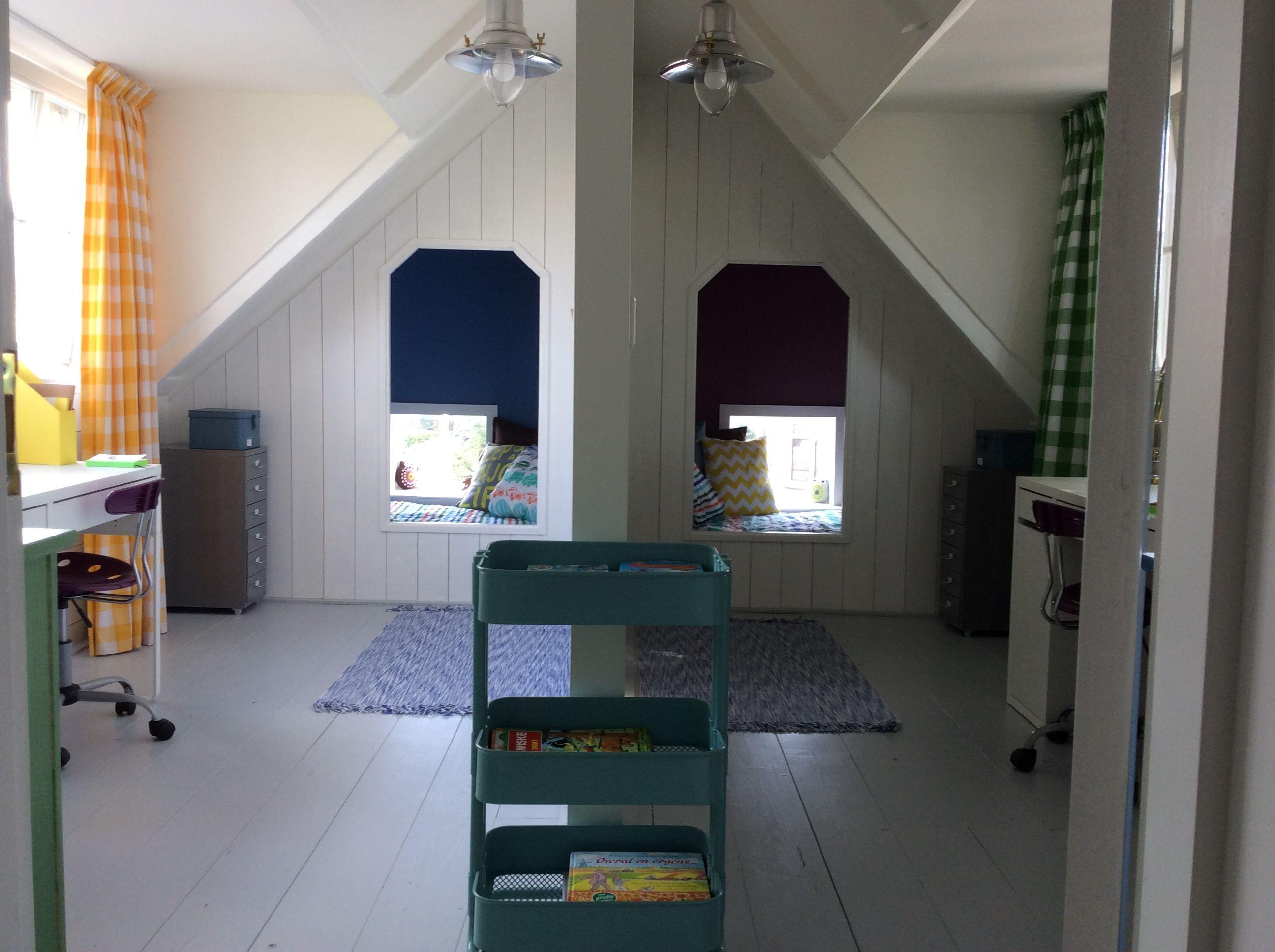 Kinderkamers Op Zolder : 2 broers 1 zolder 2 slaapvertrekken met dezelfde basis en allebei