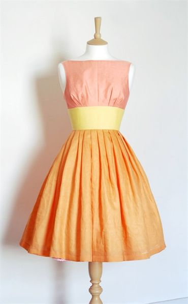 Sunset Sorbet Linen Tiffany Prom Dress By Dig For Victory Fashion
