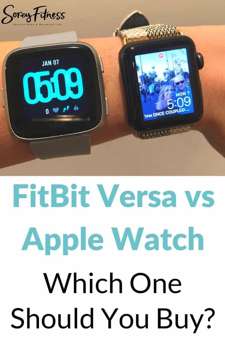 FitBit Versa vs Apple Watch Which One Is Worth Your Money