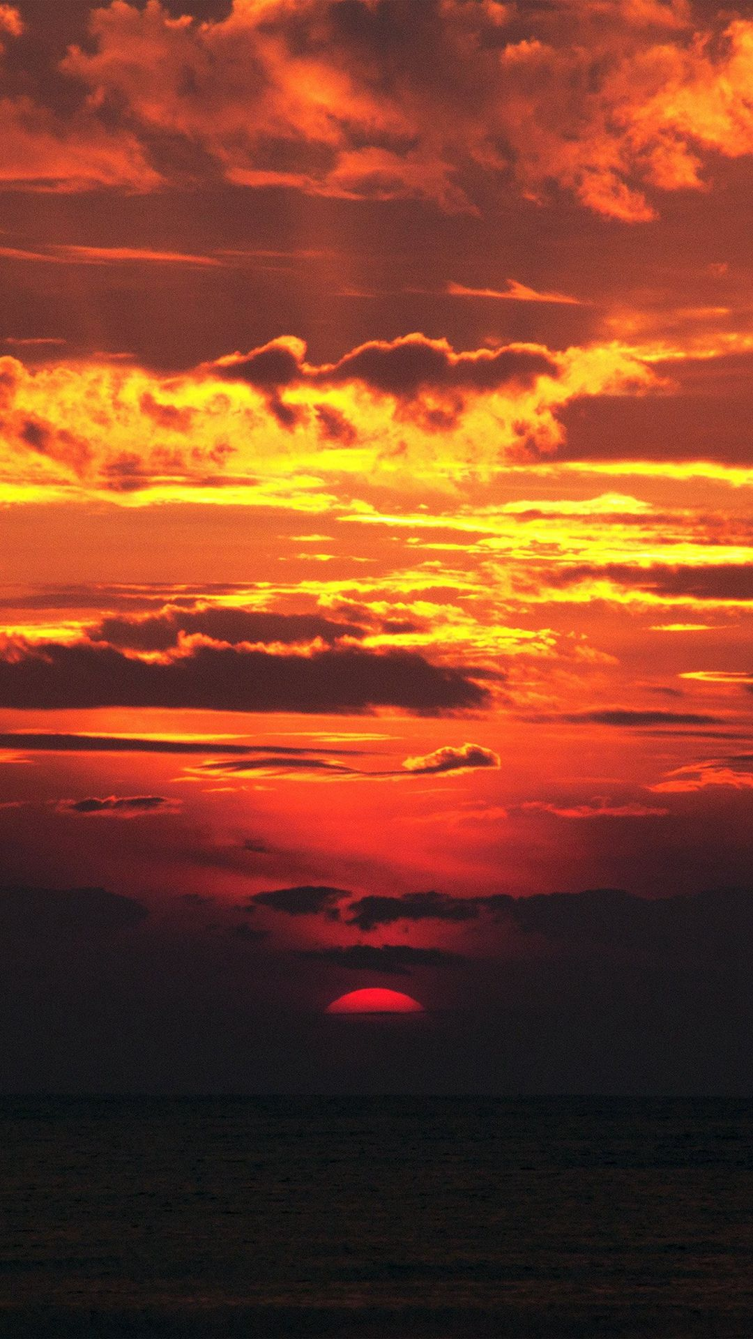 Sunset Red Sky Nature iPhone 6 plus wallpaper Sunset