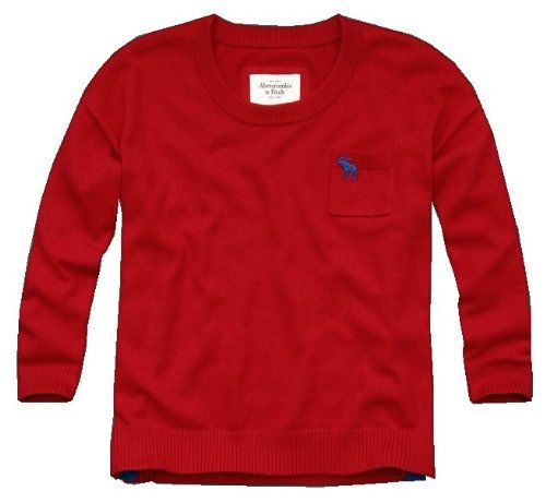 Abercrombie & Fitch Womens Pullover Sweater (x-small, Red)