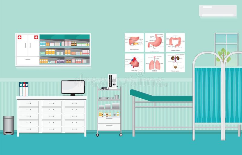 28+ Medical Examination Or Medical Check Up Interior Room. Stock Vector   Illustration of health, intestine 75275126