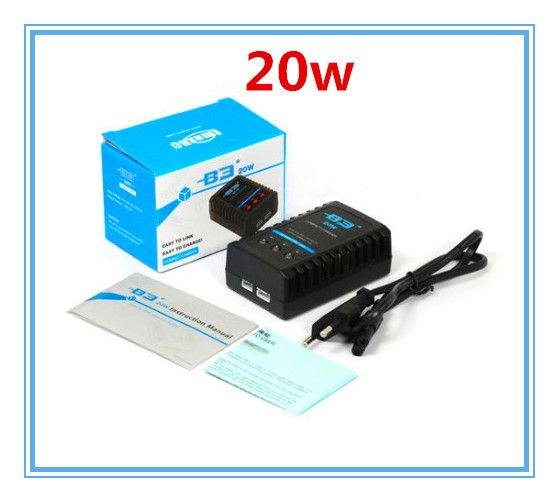 B3 20W Balance Charger 2S-3S Lipo Battery Charger for RC Helicopter