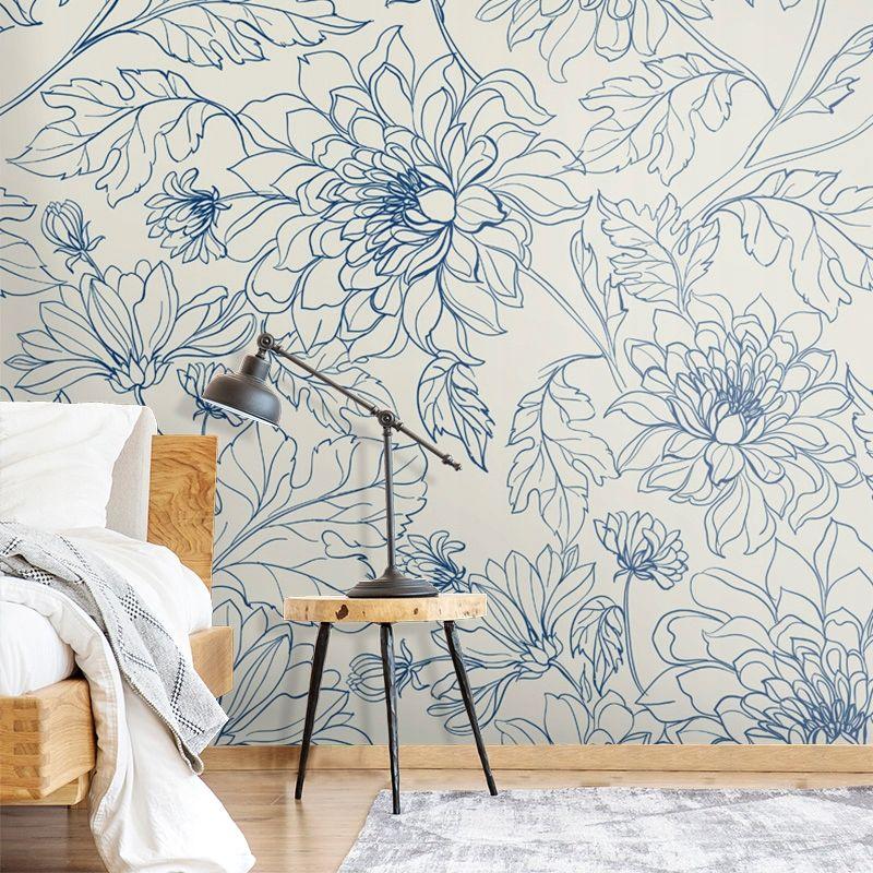 Fototapeta Duze Kwiaty Rysunkowe Jakosc L 7756632271 Allegro Pl Decor Wall Painting Home Decor