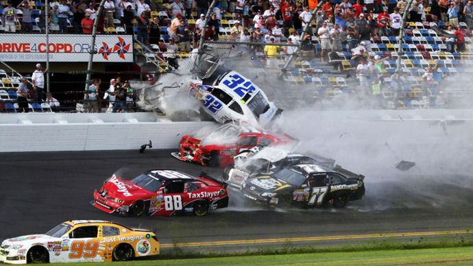 An Incident At The Finish Of The Nascar Nationwide Series