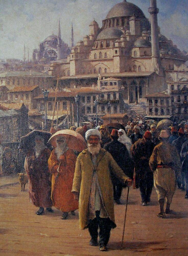 İstanbul-Eminönü-Fausto Zonaro Orientalist Art ...