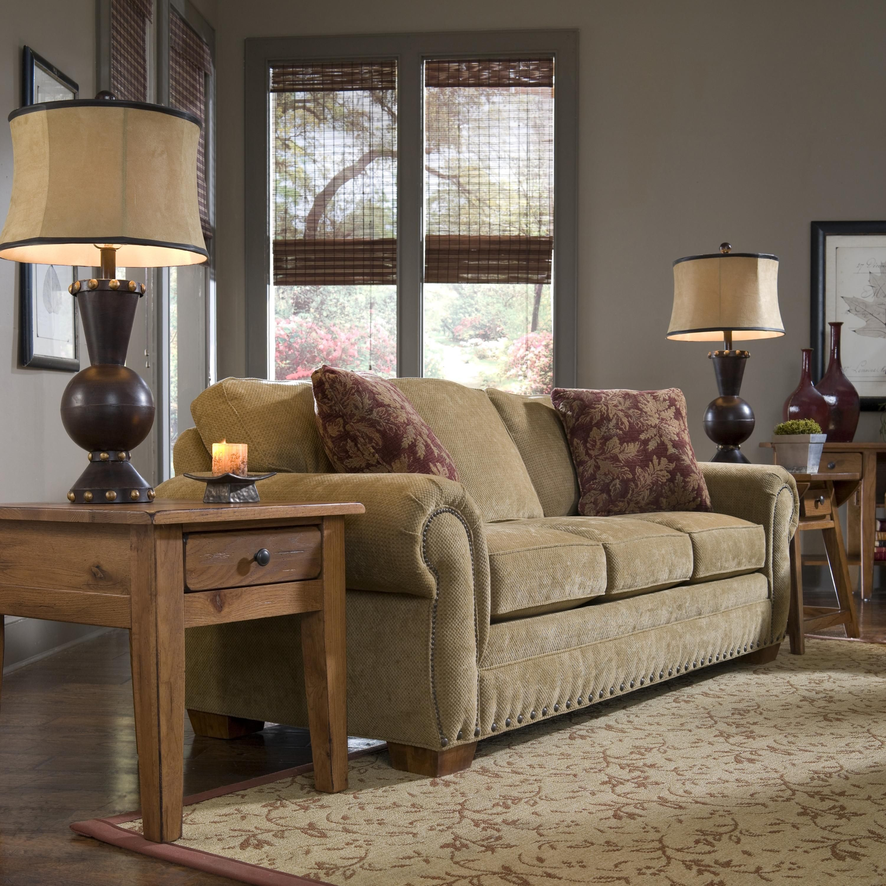 5054 Cambridge Casual Style Sofa With Nail Head Trim By Broyhill Furniture    Becker Furniture World   Sofa Twin Cities, Minneapolis, St. Paul,  Minnesota