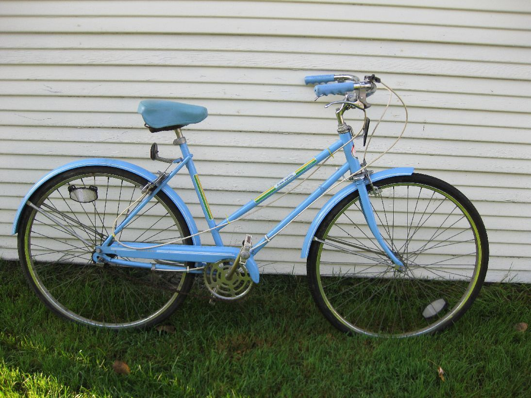 Sears free spirit 3 speed bike. Mine had a white seat that