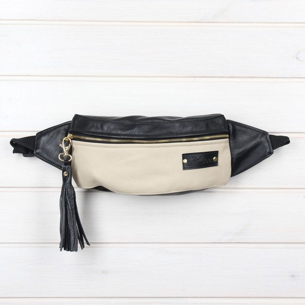 Fantastic Designer Pouch Sachet On The Hip Made Of Eco Leather Lining Kidney Is Equipped With Zipper And In Middle One Chamber Adjule