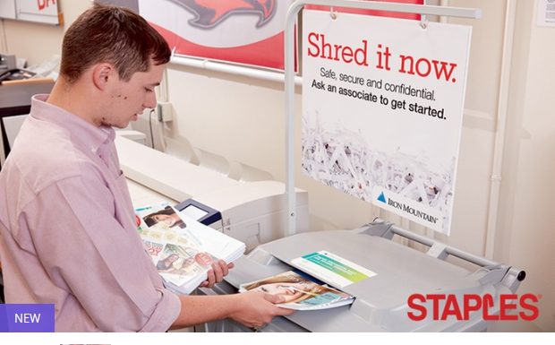 New Deal Available Shredding Services at Staples (Up to