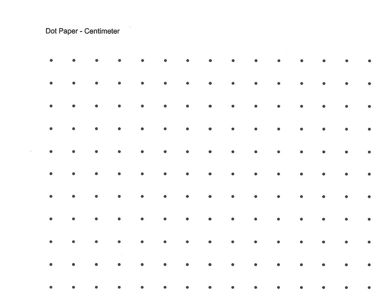 Free Printable Cetameter Dot Grid Centimeter Dot Graph Paper For