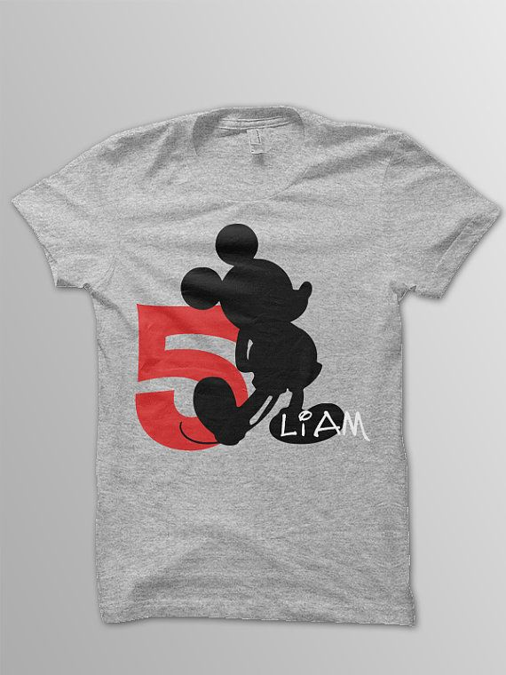 Mickey Birthday Shirt Toddler Mouse By ConchBlossom On Etsy