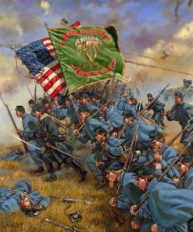 Image result for charge of the irish brigade fredericksburg