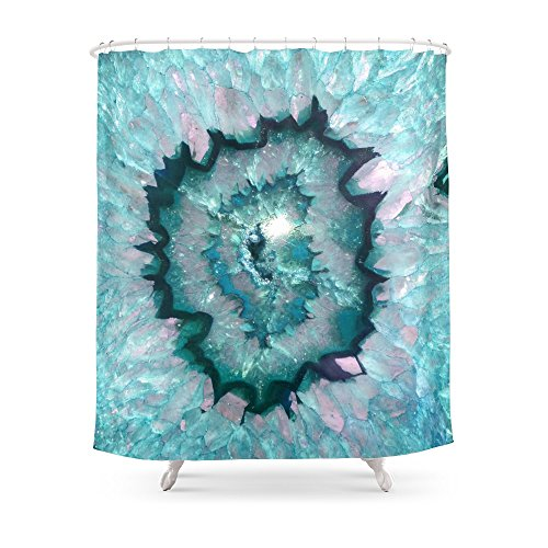 Society6 Teal Agate Shower Curtain 71 B Recommended By Deby Coles