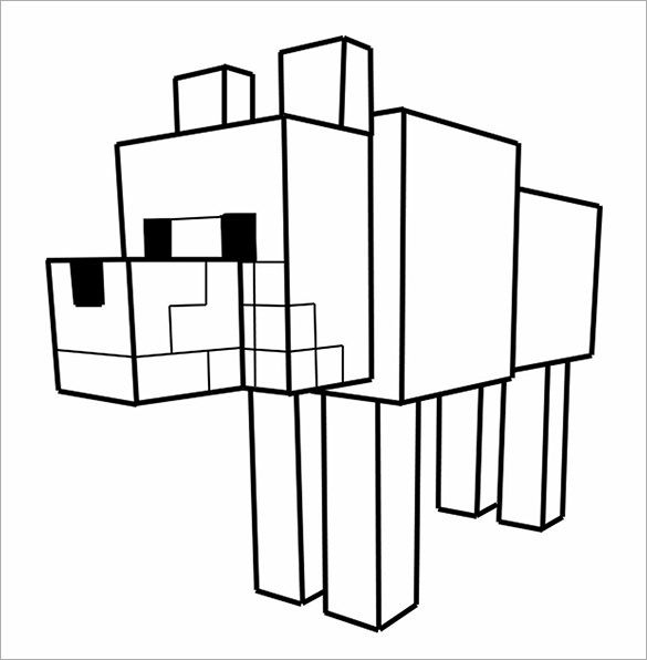 16 Minecraft Coloring Pages Pdf Psd Png Minecraft Coloring Pages Minecraft Printables Minecraft Wolf