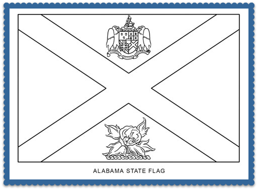 Alabama State Flag Facts By Usa Facts For Kids Flag Coloring Pages State Flags Coloring Pages Inspirational