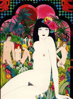 Illustration by Caroline Smith -  Cosmopolitan, March 1973