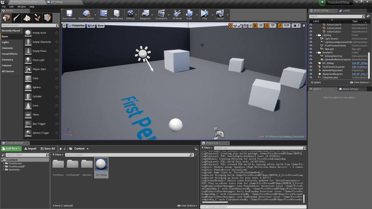 3d World Map Tutorial Unreal Engine 4 Blueprints With Images