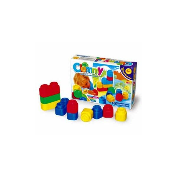Clemmy-12 soft block 12 mattoncini coloratissimi da impilare e strapazzare, lavabili e profumati, per giocare in un mondo di soffici emozioni. Giocare e rigiocare creando forme nuove e bellissime.