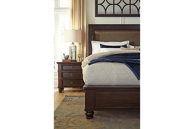 Dark Brown Roddinton Nightstand View 1 Mirrored Bedroom Furniture Furniture Bedroom Bench