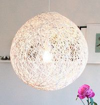 Turn Yarn Into A Modern Lampshade I Saw Some And Knew There Was Way To Do It Myself Wonder How Would Look In Color