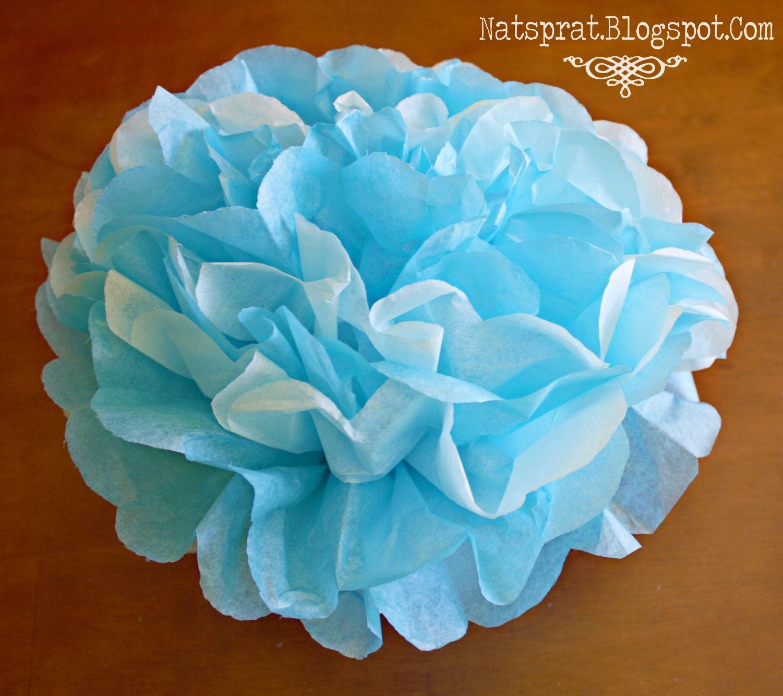 Natsprat Tissue Paper Flower Tutorial Weddings Pinterest