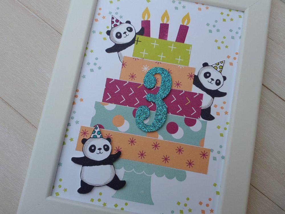 Geburtstagskarte Im Bilderrahmen Geburtstagskarte Basteln Kinder