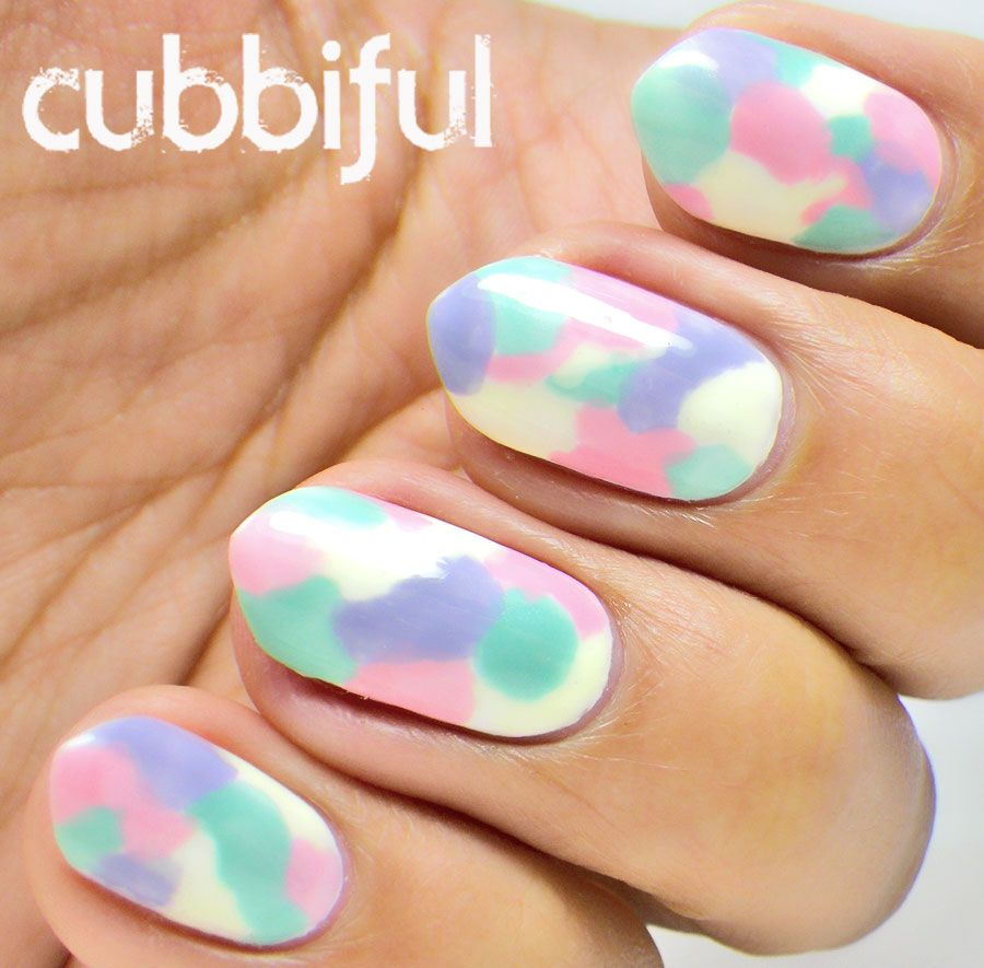 Pastel Watercolour/Camo Nails | Nail Polish Fanatic | Pinterest ...