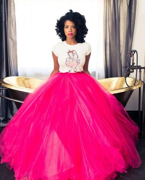PINK Tutu Petticoat Ballet Neon Pink October Skirt Size 8-12