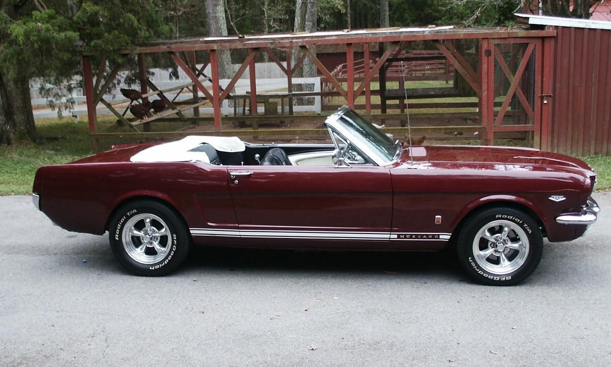 1966 ford mustang gt convertible with polished american. Black Bedroom Furniture Sets. Home Design Ideas
