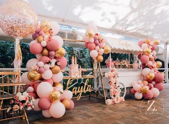 Ultimas tendencias en decoración de fiestas de 15 años 2018 #fiestade15años