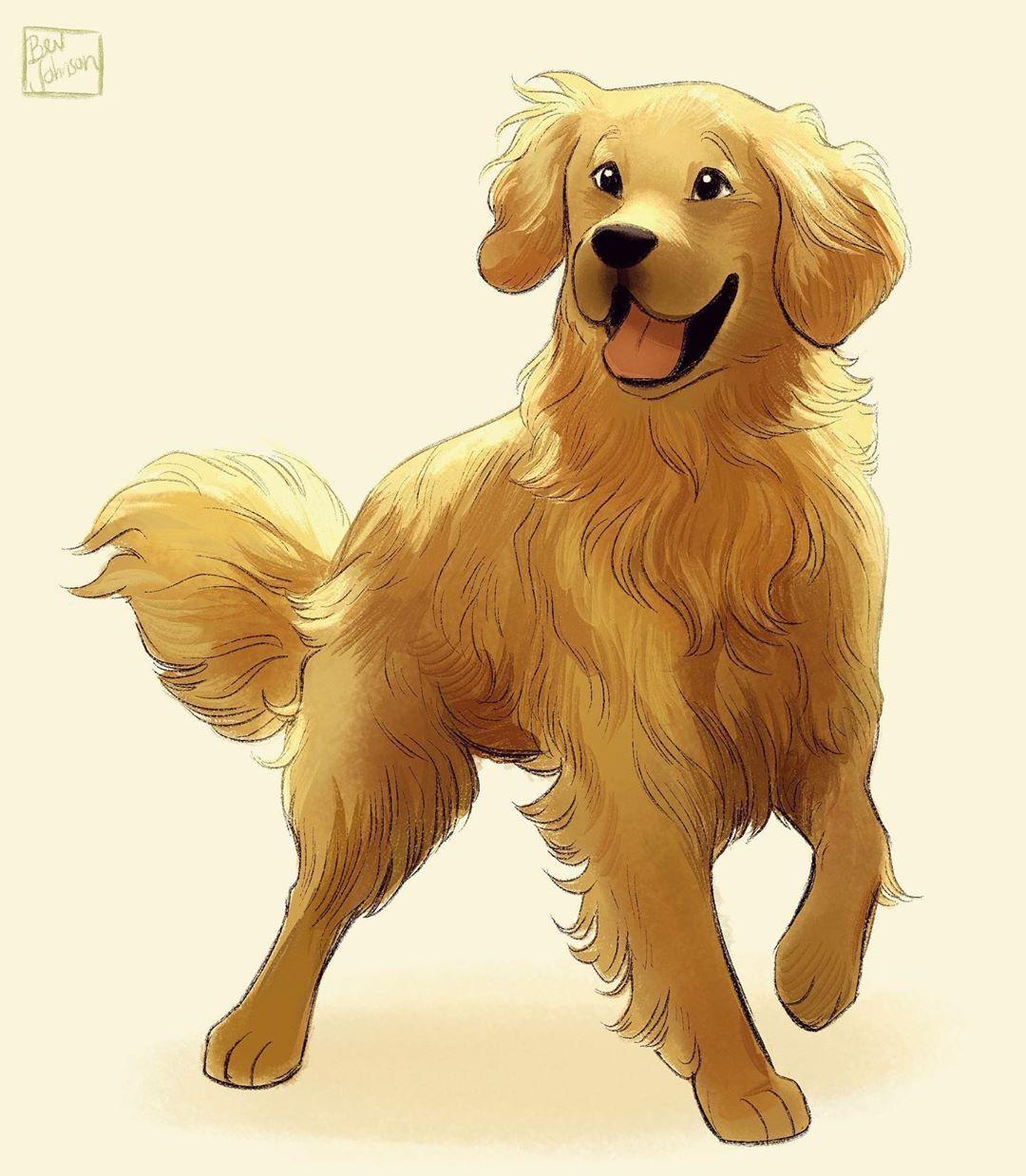 Bev Johnson On Instagram Doggust Day 31 Golden Retriever It S Been A Go Golden Retriever Art Drawing Dog Illustration Art Golden Retriever Illustration [ 1238 x 1080 Pixel ]