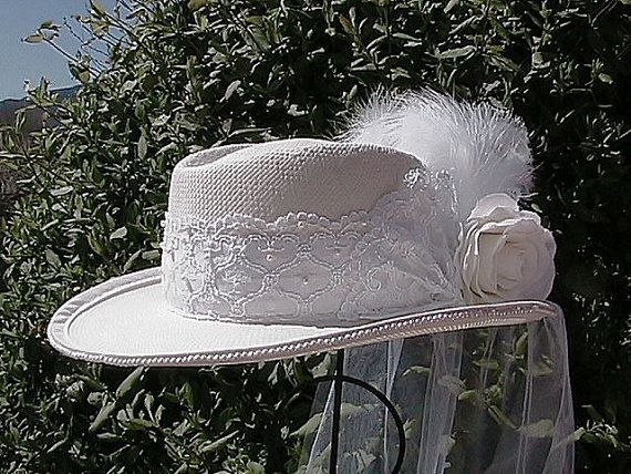 Wedding Cowgirl Hats | ... Western Bridal Hat - Western Wedding Hat - Women's Shantung Cowboy Hat