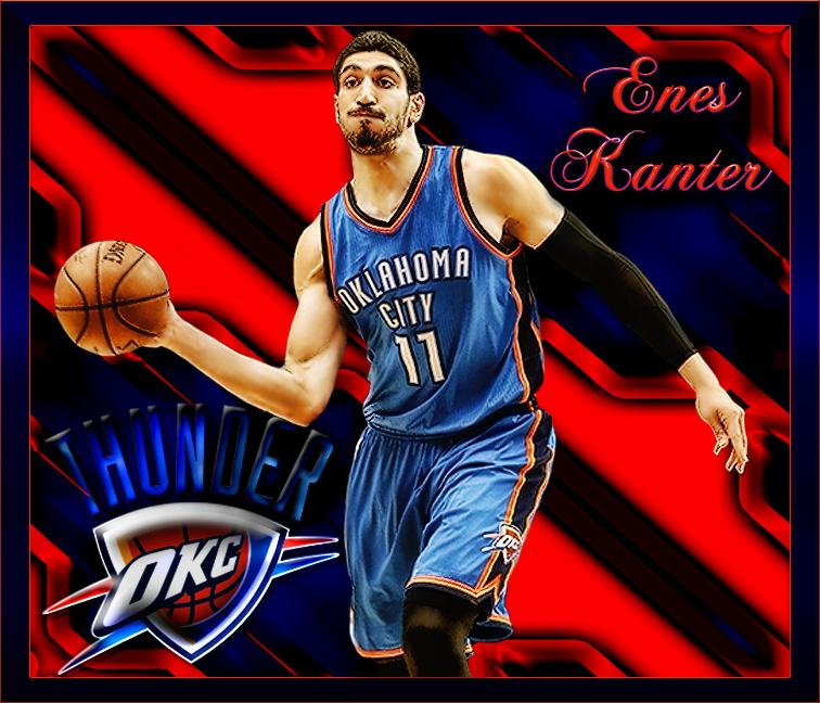 NBA Player Edit Enes Kanter Thunder nba, Nba players