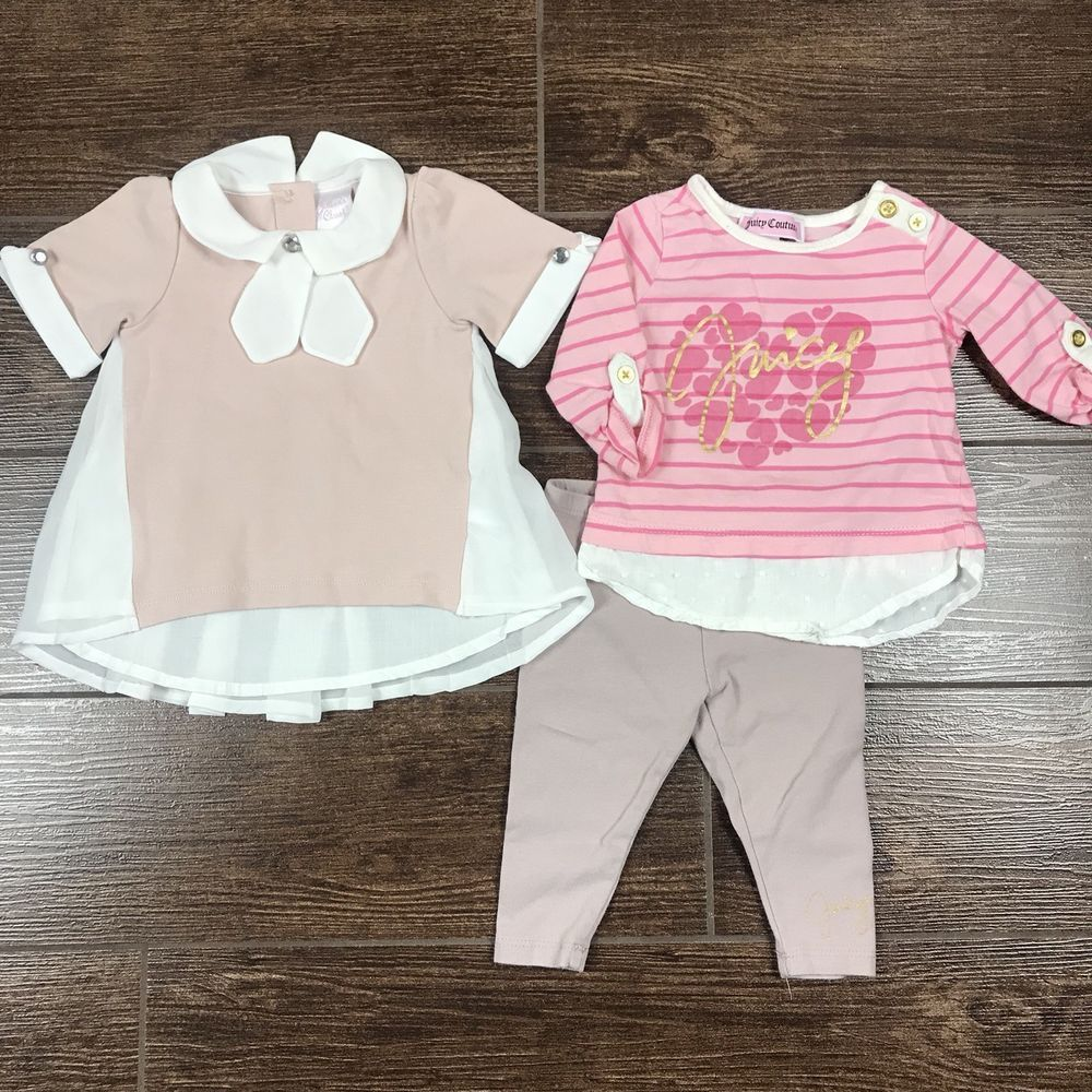 Newborn Baby Girl Julians Closet Blouse And Juicy Couture Outfit 3 6 Months Fashion Clothing Shoes Acc Juicy Couture Clothes Baby Girl Newborn Girl Outfits