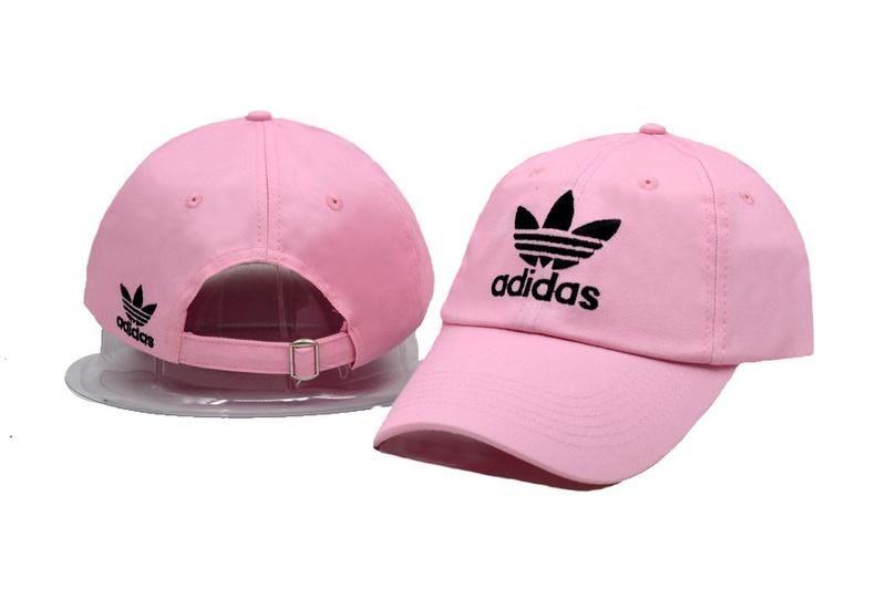 57b052f57e5 Men s   Women s Unisex Adidas Originals Trefoil 3D Embroidery Logo Baseball  Adjustable Strap Back Hat - Pink
