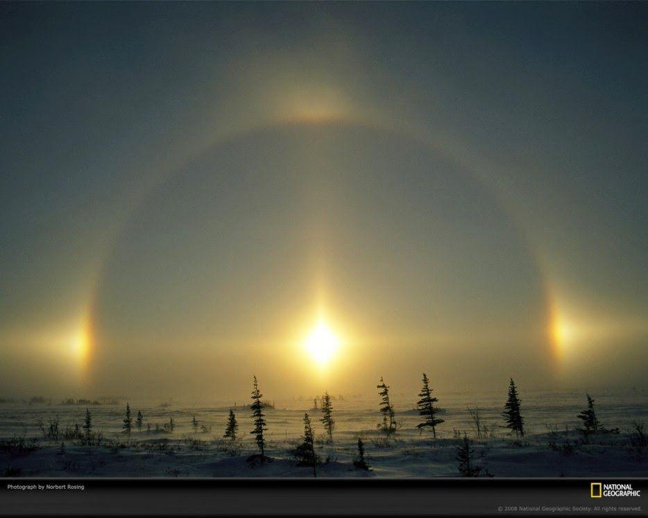 Parélio | Fenômenos naturais, Por do sol, Auroras boreais