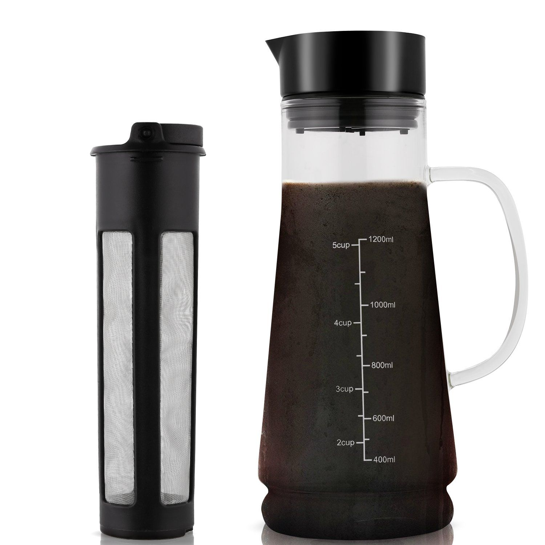 Cold Brew Coffee Maker Glass Iced Mizudashi 1200ml with