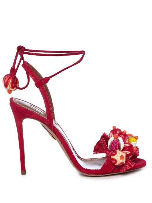 Aquazzura Tropicana suede sandals