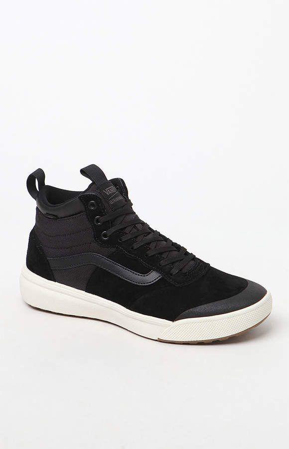 Vans UltraRange Hi MTE Black Shoes in 2019 | Black shoes
