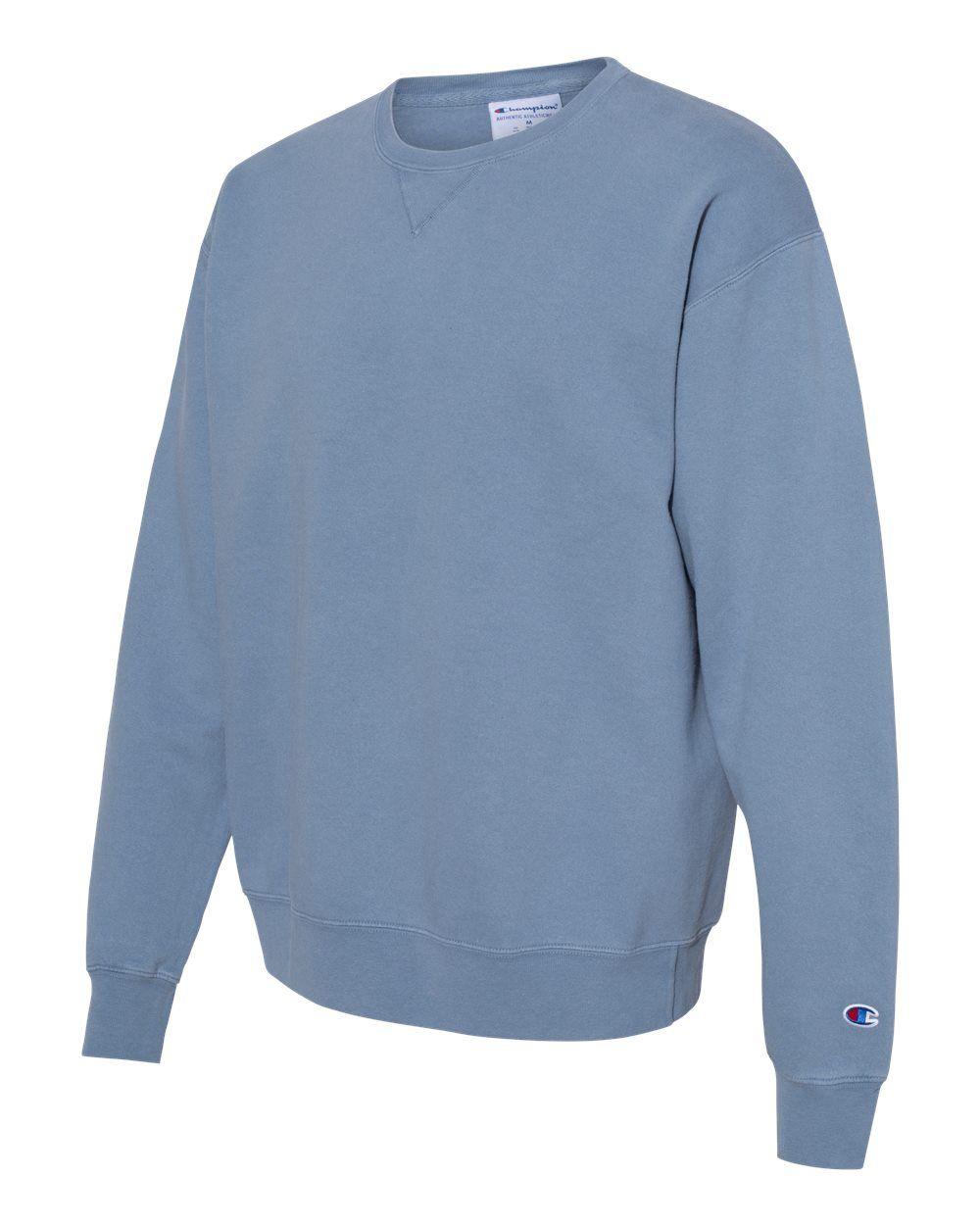 Champion Garment Dyed Crewneck Sweatshirt Cd400 Sweatshirts Crew Neck Sweatshirt Sweatshirt Fleece [ 1250 x 1000 Pixel ]