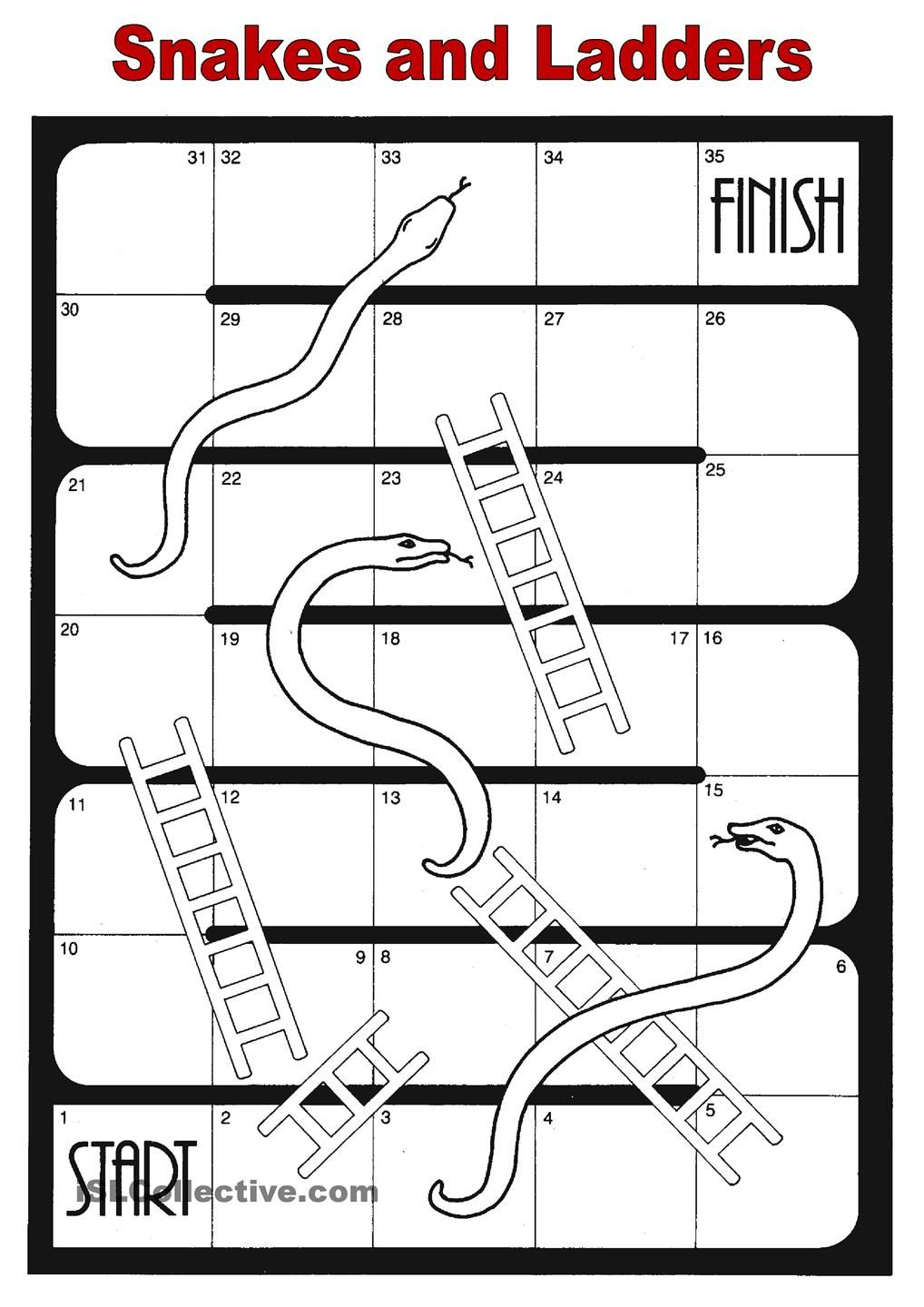 Superb image inside snakes and ladders printable