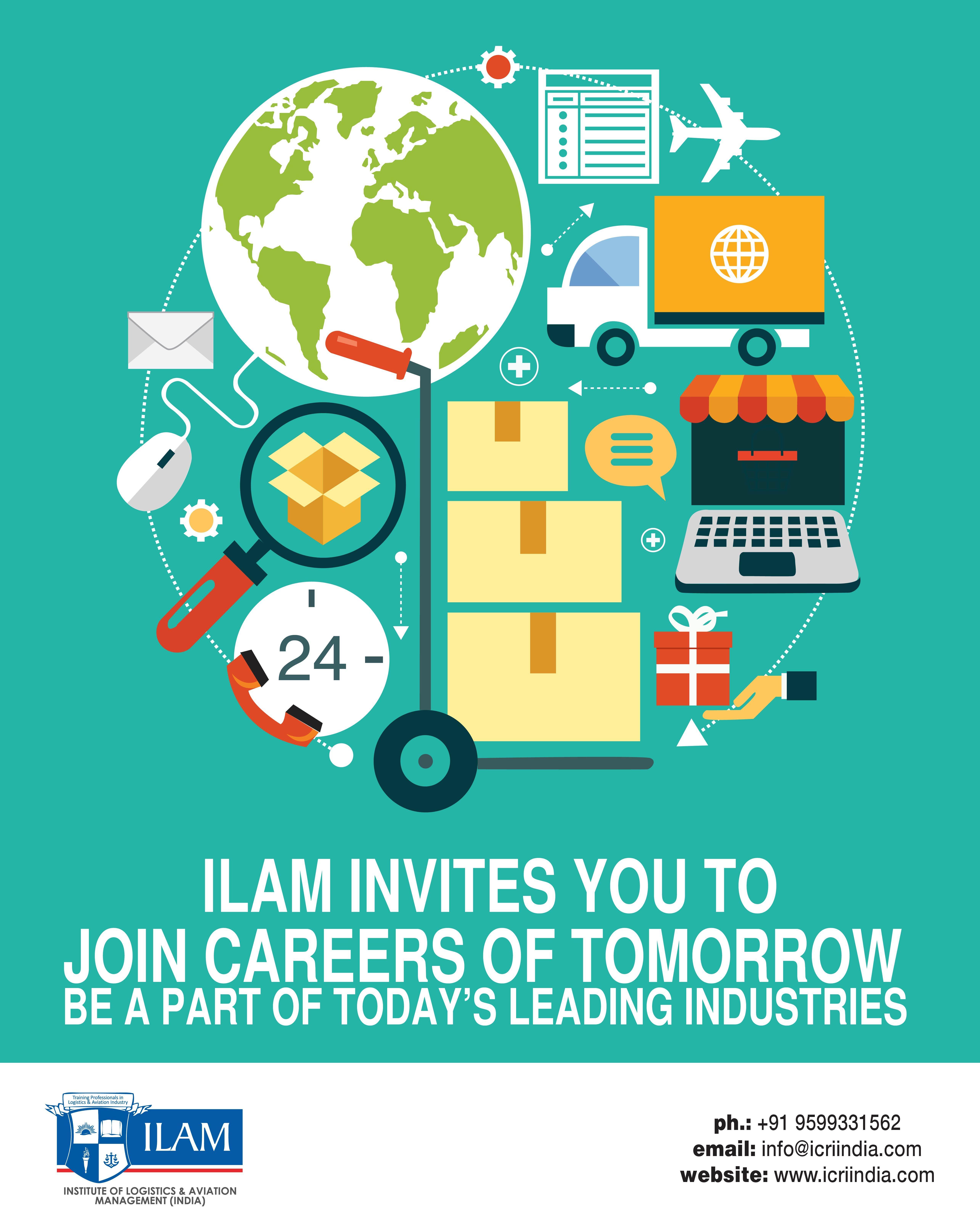 Ilam Careers Of Tomorrow Aviation Logistics Banking Design