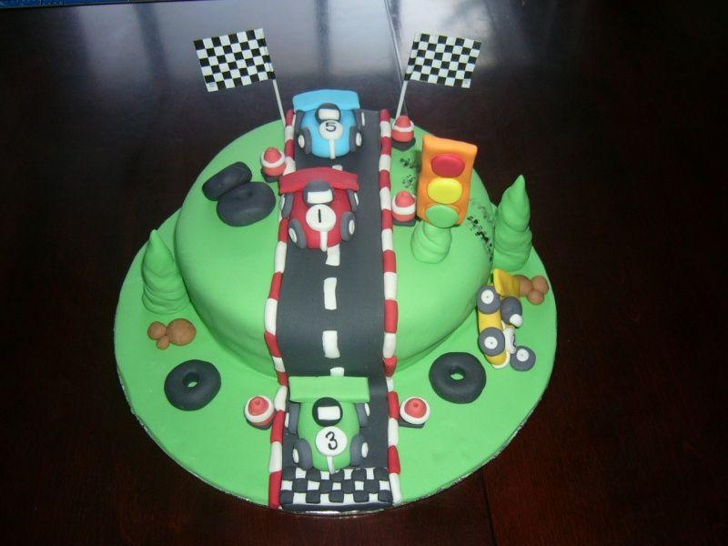 Gateau tortue circuit voiture page 5 id es f tes et g teaux anniversaire birthday cake - Voiture tortue ...