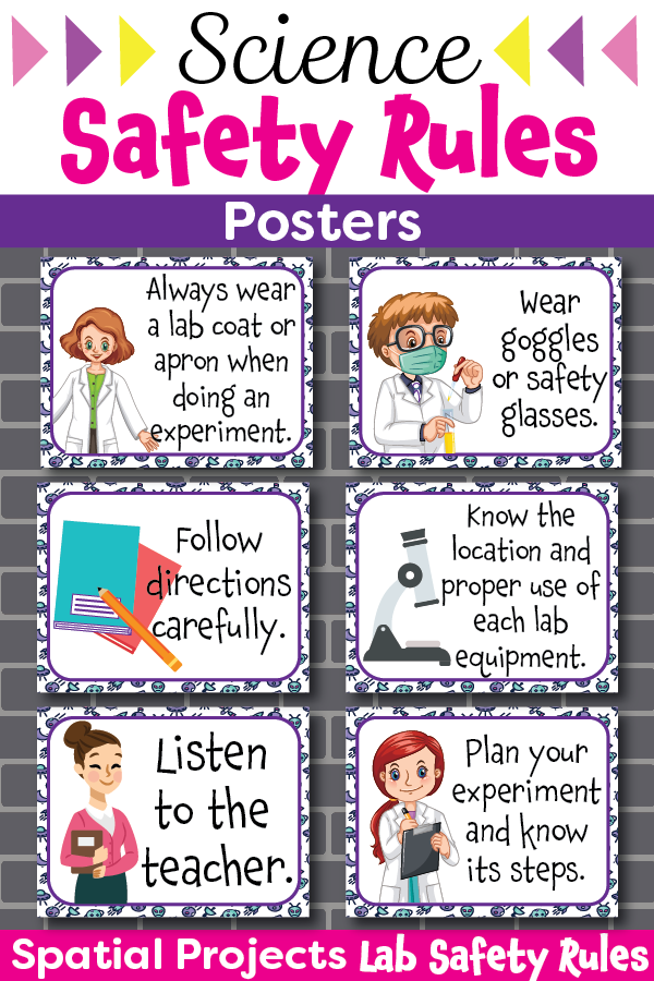 Science Safety Rules Posters Science safety, Lab safety
