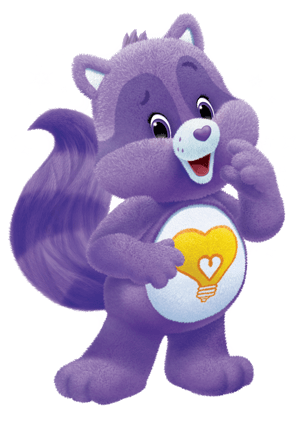 Bright Heart Raccoon Is A Care Bear Cousin Who Appeared In The Original Care Bears Tv Series And Films He Care Bears Cousins Care Bears Vintage Bear Character