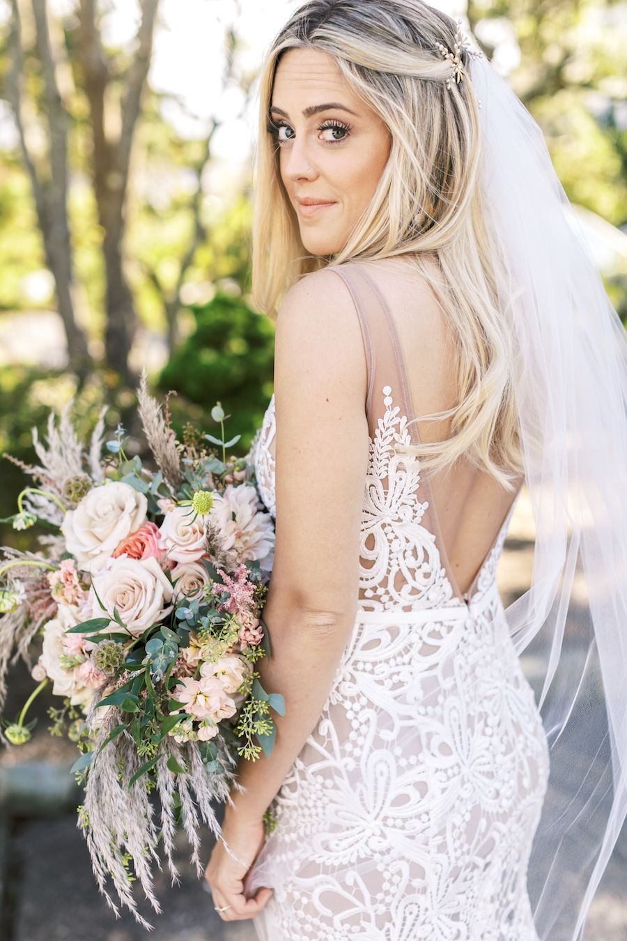Stunning Luxury Wedding At The Venetian In New Jersey Fit And Flare Wedding Dress Illusion Wedding Dress Ball Gown Wedding Dress