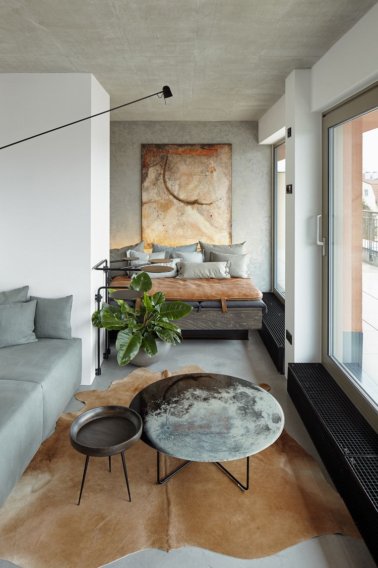 Sophisticated Small Industrial Loft With Unique Design