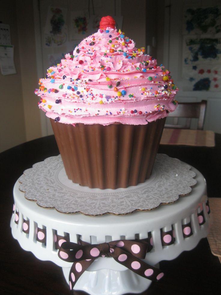 Giant Cupcake Large Cupcake Cakes Cupcake Smash Cakes
